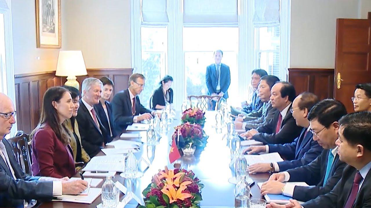 Thủ tướng Chính phủ Nguyễn Xuân Phúc hội đàm với Thủ tướng New Zealand