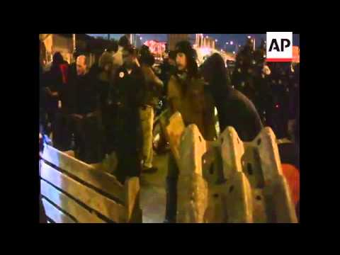 11 Arrested as Occupy Demonstrators Disrupt Port Operations in Seattle. Police used pepper spray and