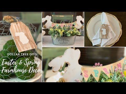 Dollar Tree DIY Easter & Spring Farmhouse Decor