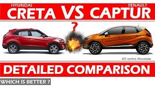 RENAULT CAPTUR vs HYUNDAI CRETA 2017 CRETA 2018 LAUNCH renault captur 2017 hyundai creta 2017