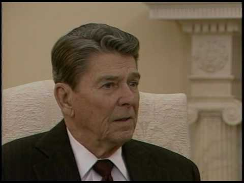 President Reagan Interview by Lou Cannon in the Oval Office on ...