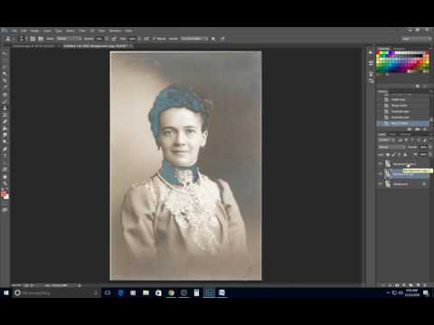Removing Silvering from an Old Photo 2nd Method