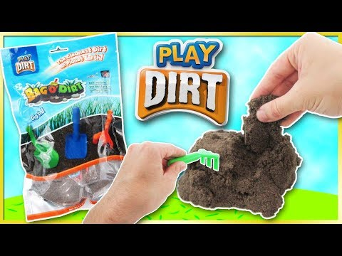 BAG 'O DIRT 😱 Play Dirt Kinetic Sand Toy Review with Shovel, Rake & Trowel | Trusty Toy Channel