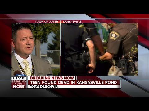 News Conference : Racine Sheriff on body found in Kansasville pond