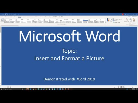 Insert and Format a Picture - Word 2019