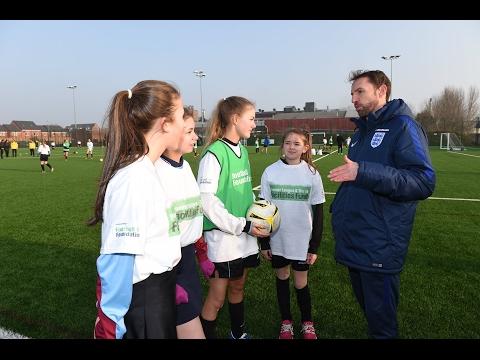 England manager Gareth Southgate opens football hub