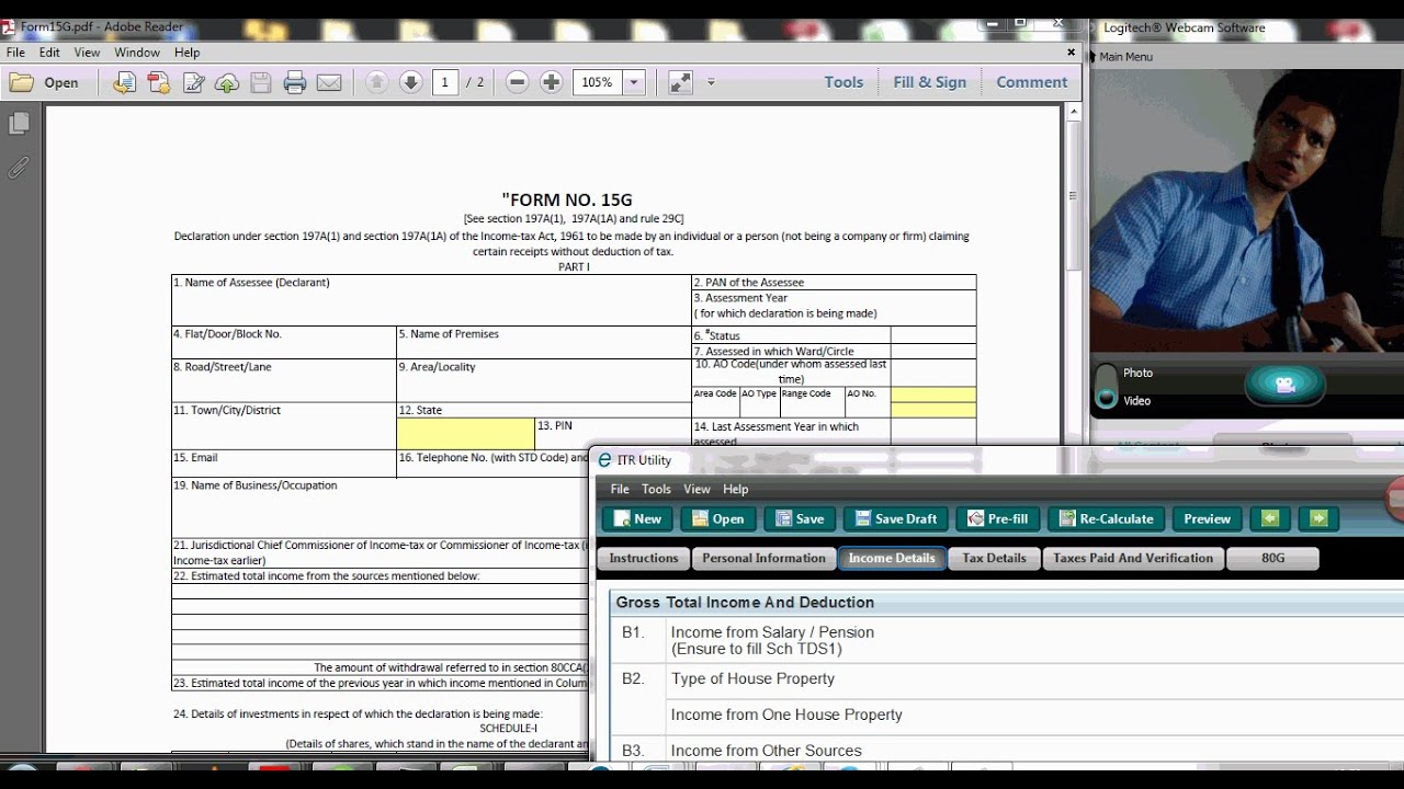 How To Fill Form 15 G For Pf Withdrawal From Scratch Live Hindi
