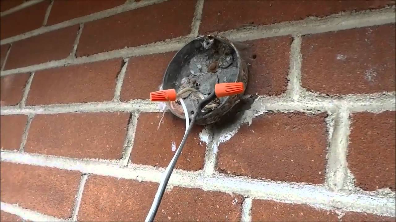 How To Remove And Disconnect An Exterior Light Fixture - YouTube