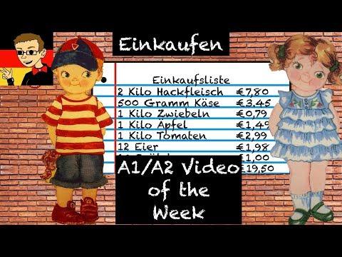 Shopping - Learn German for Beginners A1/A2 #4 - Deutsch lernen