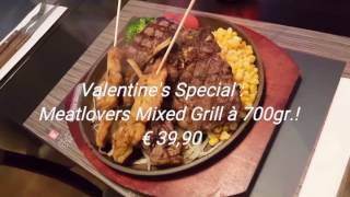 Restaurant-Loungebar Sizzling Deluxe : Valentine's Special Meatlovers Mixed Grill à 700gr.