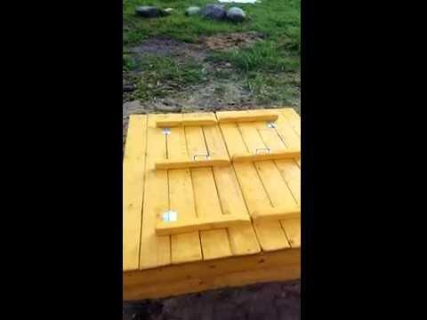 Песочница с крышкой своими руками. инструкция в описании