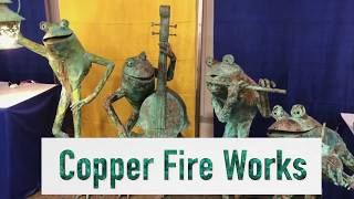 Gambar cover Copper Fire Works of Sedona create magical, happy frogs that make you smile!