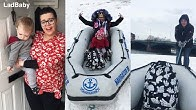 It's mums birthday...and the snow boat saves the day 👑❄️