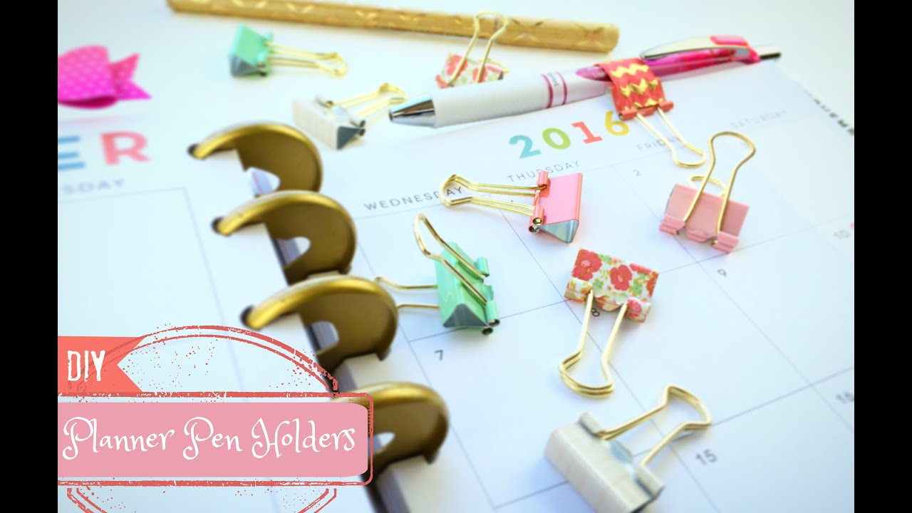How To Make A Pen Holder Diy Planner Pen Loop Youtube
