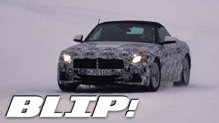 Here's The New BMW Z5/Toyota Supra Playing In The Snow