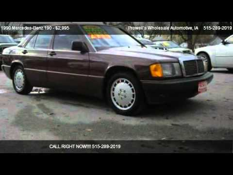 1990 mercedes benz 190 190e for sale in des moines ia for Des moines mercedes benz