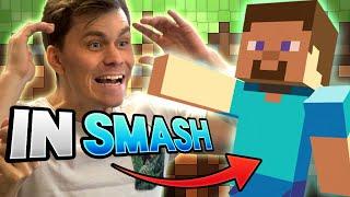 Beefy Smash Doods react to MINECRAFT STEVE in Smash Ultimate