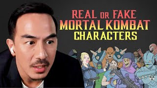 MORTAL KOMBAT (2021) Cast Plays Real or Fake Game Character