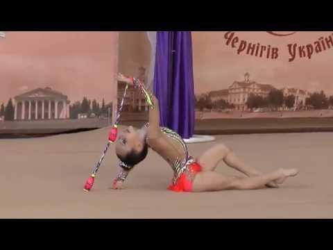 Терновська Христина (булавы) 2008-Кат.B Перлина Полісся 2015 Художественная гимнастика