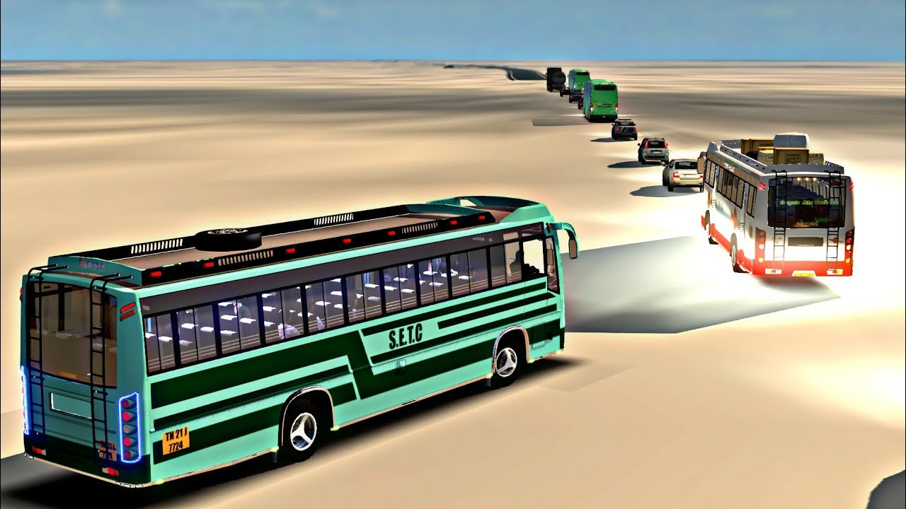 SETC highway driving | Euro truck simulator 2 | indian bus mod |