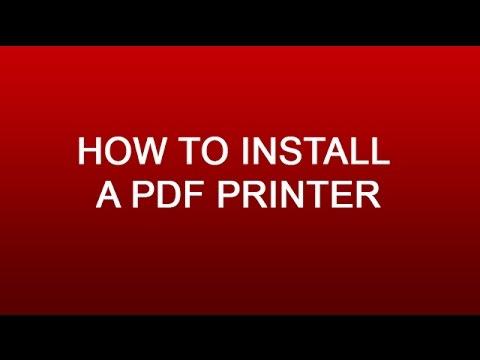 How To Install PDF Printer - Auto Save PDF