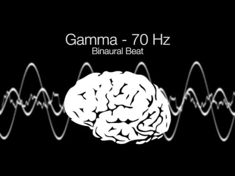 'Highest Brainwave Frequency' Gamma Binaural Beat - 70Hz (1h Pure)