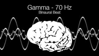 'Highest Brainwave Frequency' Gamma Binaural Beat - 70Hz (1h Pure)