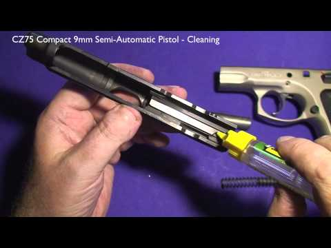CZ75 Compact 9mm Semi-Automatic Pistol. Cleaning.