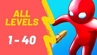 Bullet Man 3D Game All Levels 1-40 Walkthrough