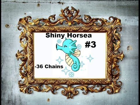 Pokemon X-Shiny Horsea After 36 Fishing Chains (And Evolution)