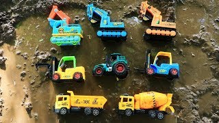 Fine Toys Construction Vehicles Under The Mud | Car Toy For Kids