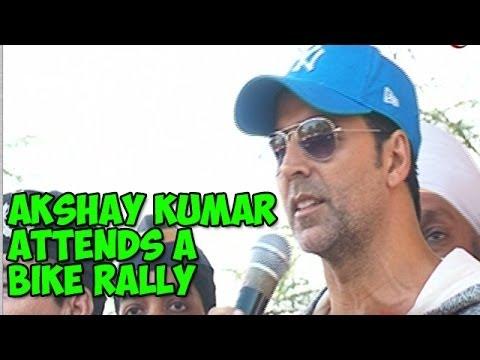 Akshay Kumar attends a bike rally
