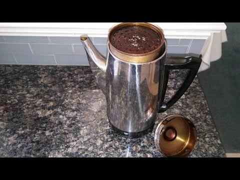 Easy How To Clean Up A Dirty Percolator Coffee Maker Pot Youtube