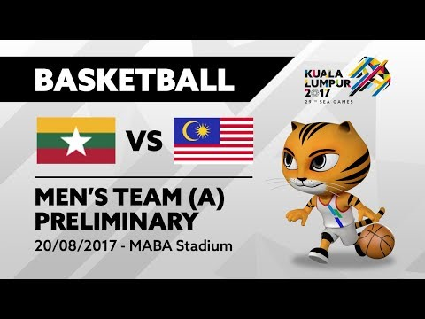 KL2017 Men's Basketball - MYA 🇲🇲 vs MAS 🇲🇾 | 20/08/2017