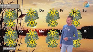 """7 bis 10 Tage-Wetterprognose:  die  """"Schlager der Woche. Wann regnet es? Wann scheint die Sonne?"""