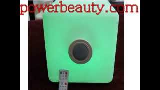 led light ball rechargeable,Led Cube Seat With Bluetooth Speakers