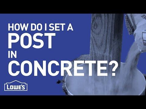 How Do I Set A Post In Concrete? | DIY Basics