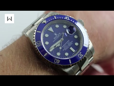 Rolex Oyster Perpetual Submariner 116619LB Smurf Luxury Watch Review