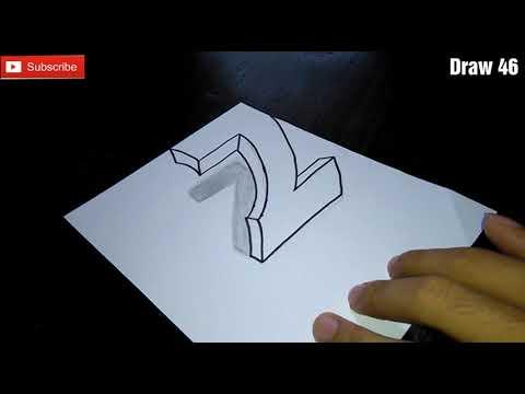CARA GAMBAR 3D Huruf Z untuk Pemula, Mudah cooy - YouTube