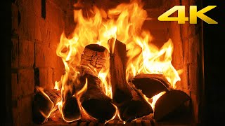 🔥 The Best Burning Fireplace 4K (10 HOURS) with Crackling Fire Sounds NO MUSIC Close Up Fireplace 4K