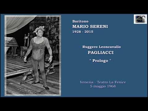 """Baritono MARIO SERENI - Pagliacci  """"Prologo""""  (Live 1968)"""