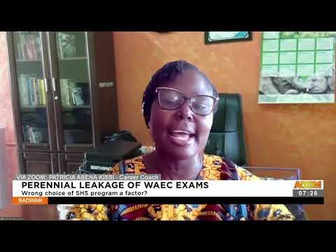 Perennial Leakage of WAEC Exams: Wrong choice of SHS program a factor - Afisem on Adom TV (20-9-21)