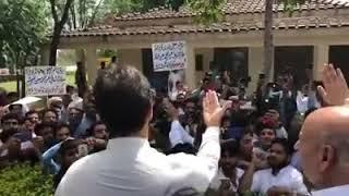 Imran Khan among PTI workers in banigala