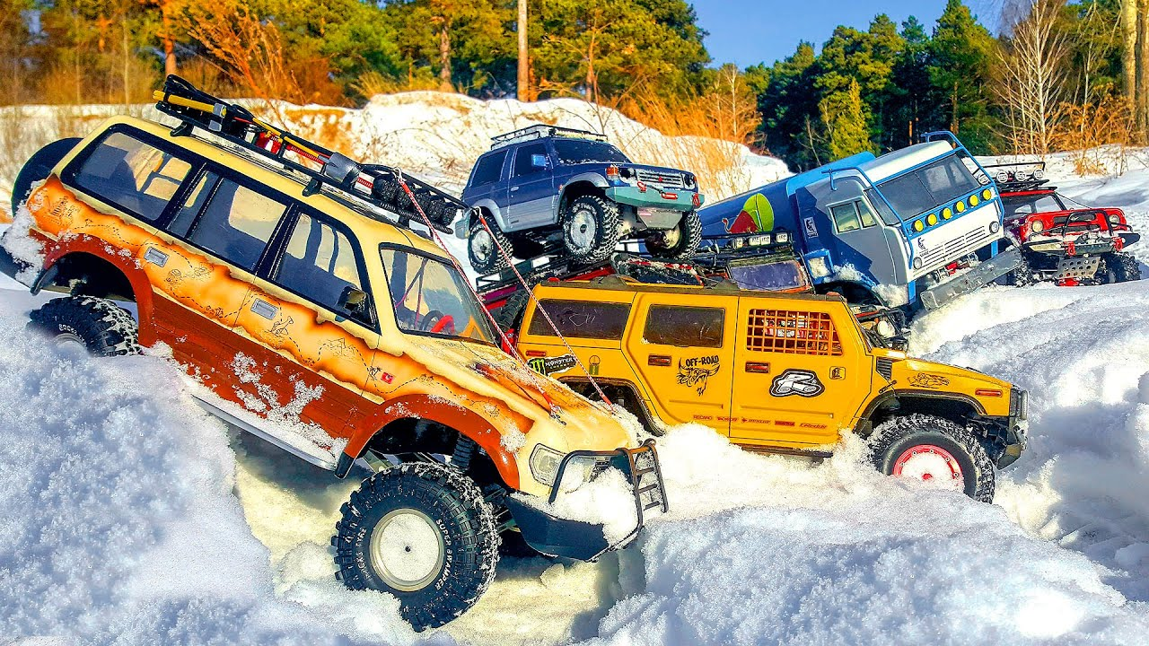 10 RC Cars OFF Road Snow Expedition – Jeep, KAMAZ, Hummer, Land Rover — Wilimovich