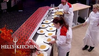 Chef Struggles To Produce 12 Risottos | Hell's Kitchen