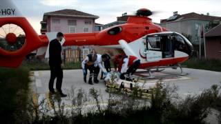 Hastanın İmdadına Ambulans Helikopter Yetişti
