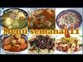 Menu semanal 11 / comida casera / comida facil