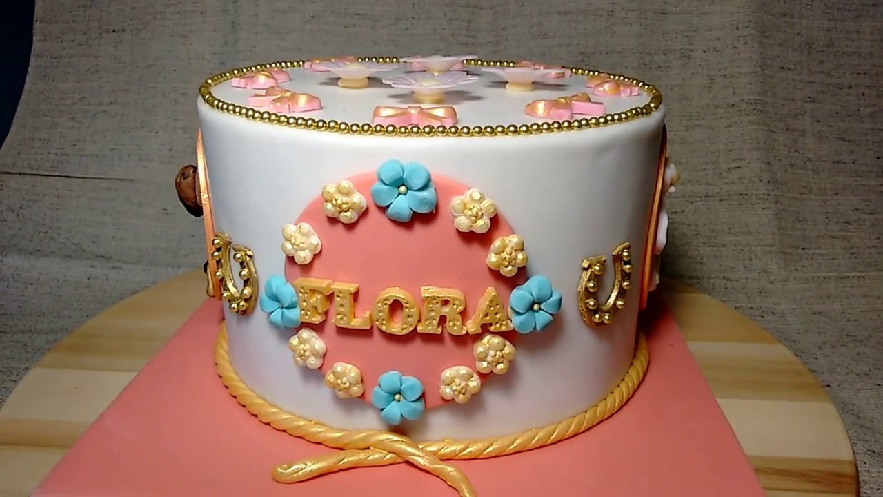 Girly Horse Themed Birthday Cake Youtube
