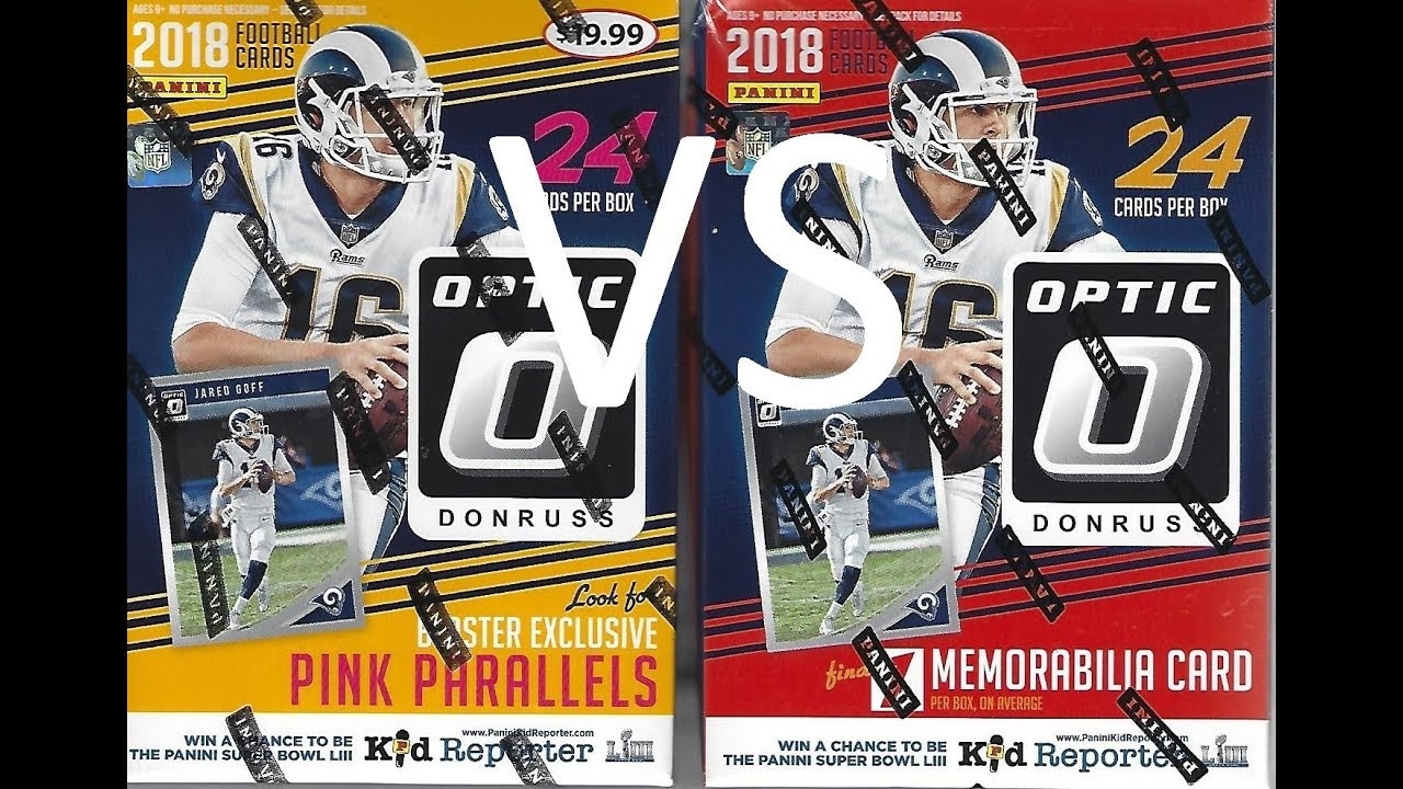 timeless design 307f3 b70b7 2018 Panini Donruss Optic Football Blaster Box Break / Target VS Walmart