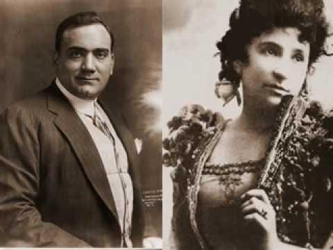 Puccini: La bohéme - O soave fanciulla. Caruso & Melba (1907)